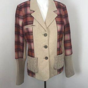 Sundance wool/viscose blend blaze/cardigan 8